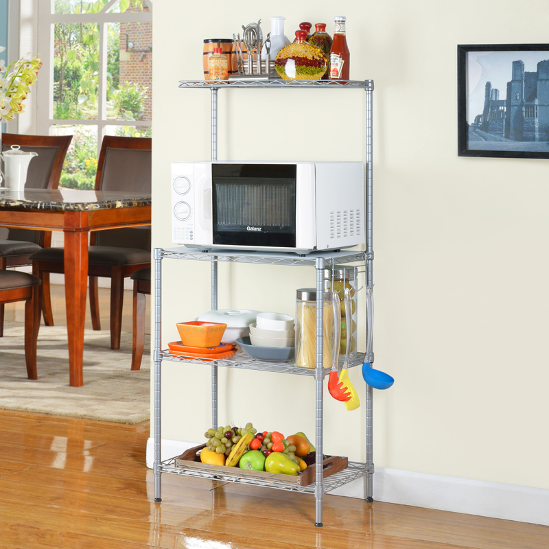 ... 3 Tier Adjustable Kitchen Metal Wire Storage Shelf Home Holders For  Sundries Use   Copy ...