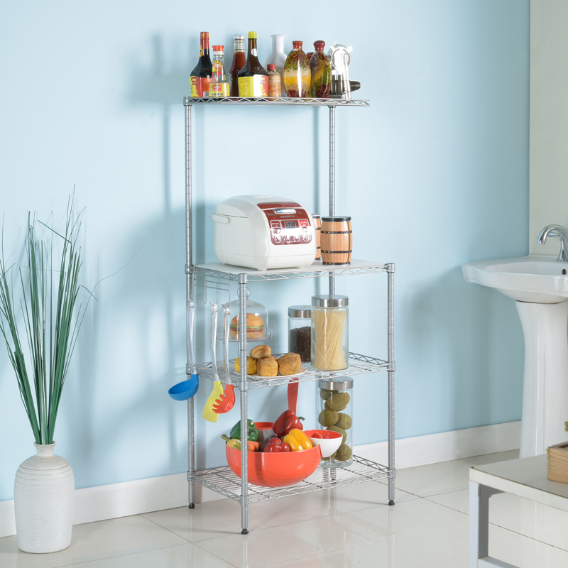 KR011 4 tier hot sale carbon steel wire shelving